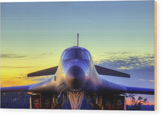 The Face Of American Airpower Wood Print by JC Findley