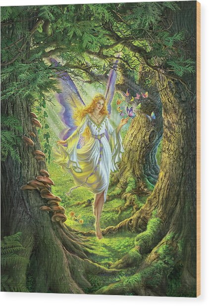 The Fairy Queen Wood Print