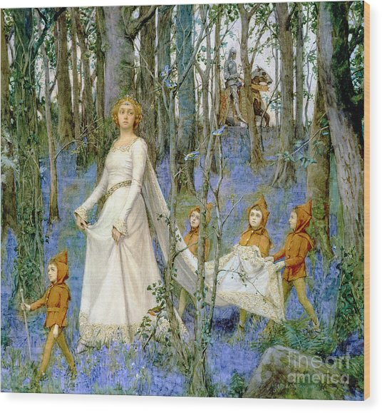The Fairy Wood Wood Print