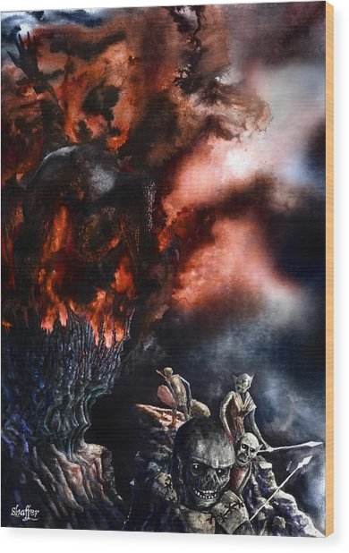 The Fall Of Azturath Wood Print