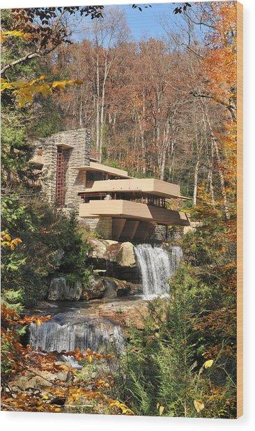 The Fallingwater Wood Print