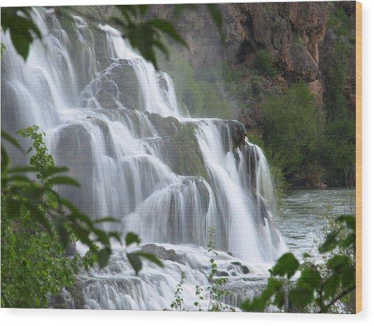 The Falls Of Fall Creek Wood Print