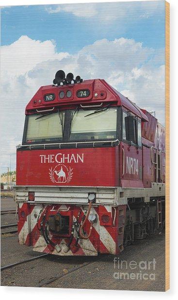 The Famed Ghan Train  Wood Print