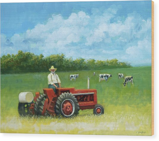 The Farmer Wood Print