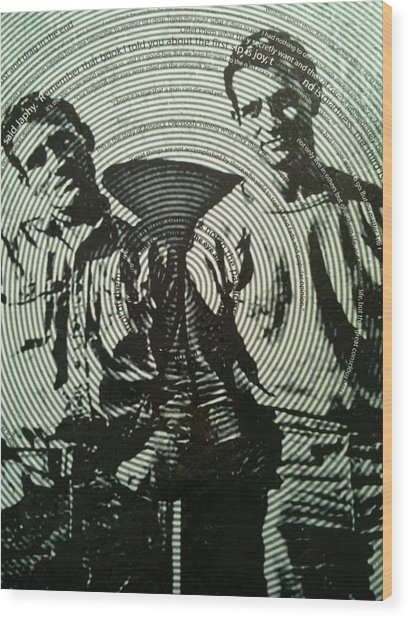 The Father Of The Beatniks Jack Kerouac Wood Print
