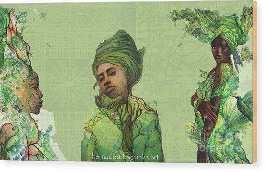The Fauns Wood Print