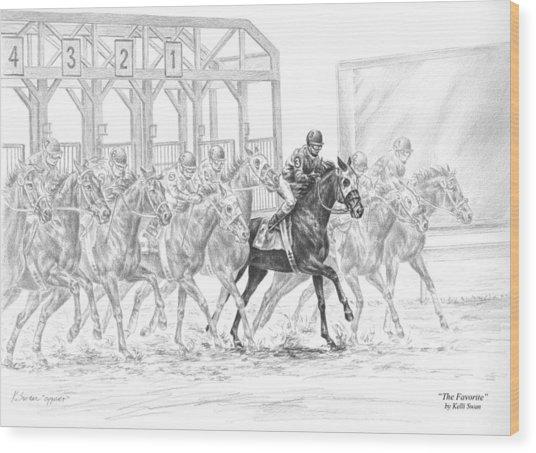 The Favorite - Horse Racing Art Print Wood Print