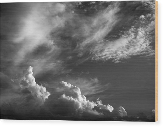 The Fine Art Of Clouds Wood Print by Jim  Darnall