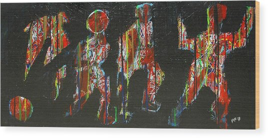 The Finish Line Wood Print by Paul Freidin