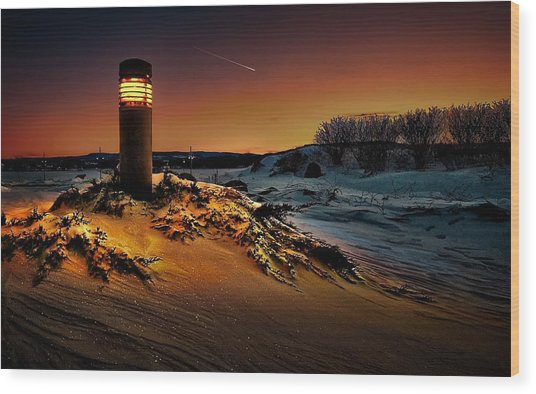 The First Light At Sunset Wood Print