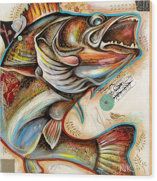 The Fish Wood Print
