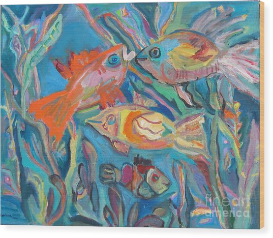 The Fish Wood Print by Marlene Robbins