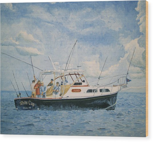 The Fishing Charter - Cape Cod Bay Wood Print