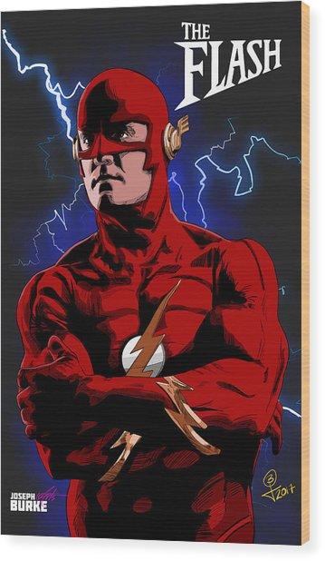 The Flash 1990 Wood Print by Joseph Burke