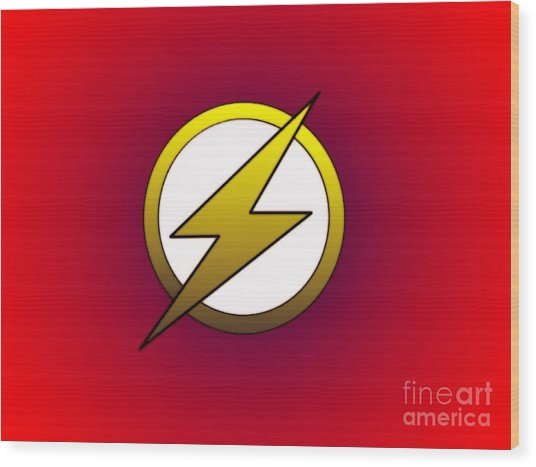 The Flash  Wood Print