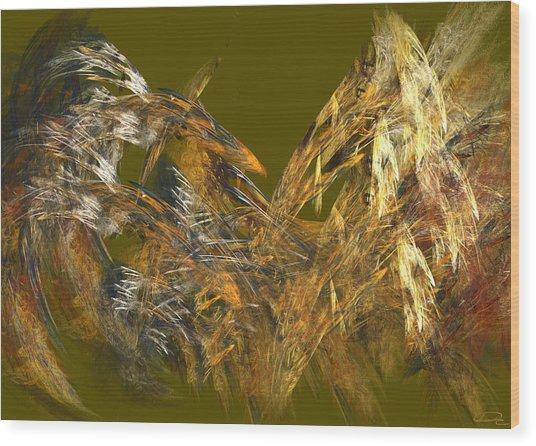 The Flight Of The Bird Wood Print by Emma Alvarez