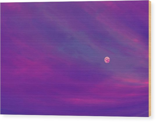 The Flight To Heaven Wood Print by Geoff Simmonds