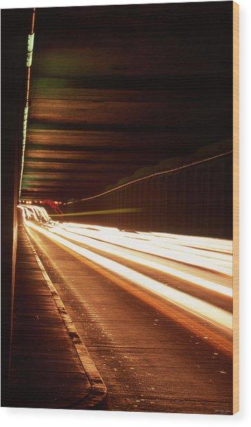 The Flow Of Traffic Wood Print