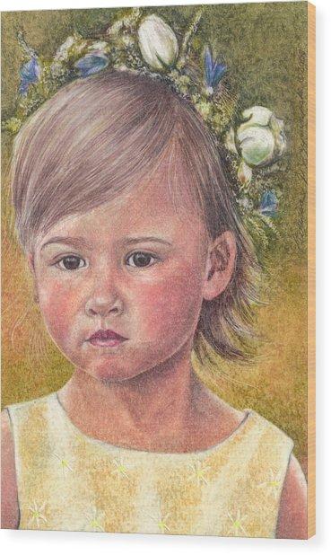The Flower Girl Wood Print by Melissa J Szymanski