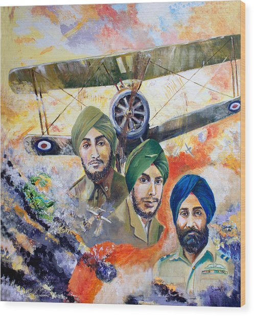 The Flying Sikhs Wood Print