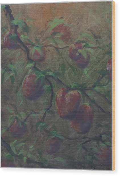 The Forbidden Fruit Wood Print by Kenneth McGarity