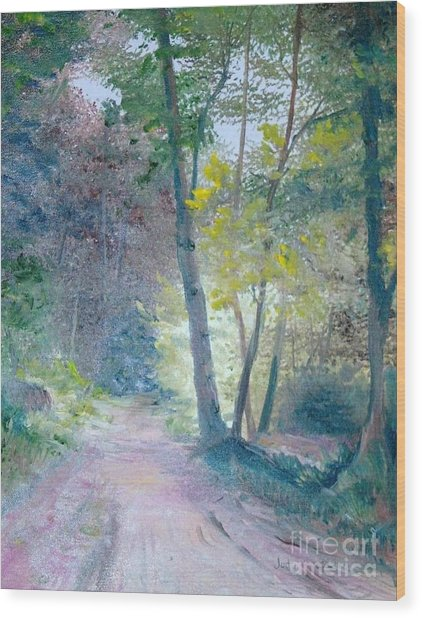 The Forest Wood Print by Judy Groves