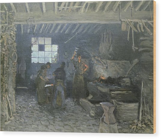 The Forge Wood Print