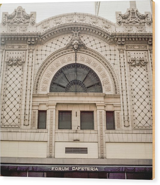 The Forum Cafeteria Facade Wood Print