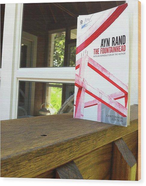 The Fountainhead By Ayn Rand Wood Print