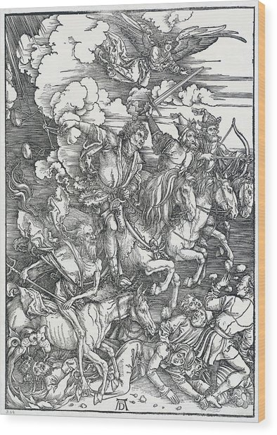 The Four Horsemen Wood Print