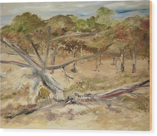 The Fourty-niner Highwaytrees Wood Print by Edward Wolverton