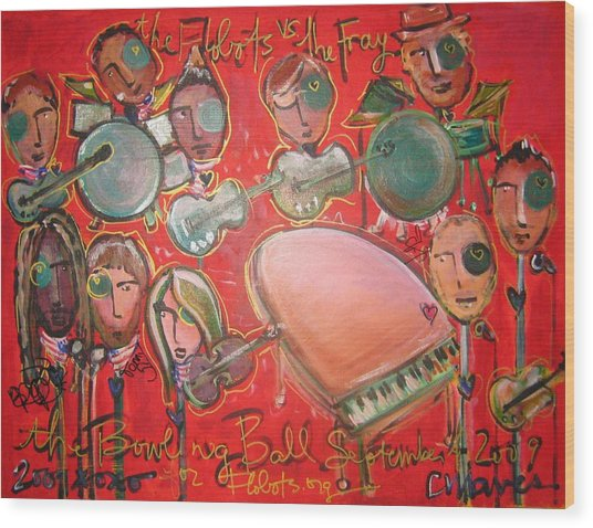 The Fray And The Flobots Wood Print