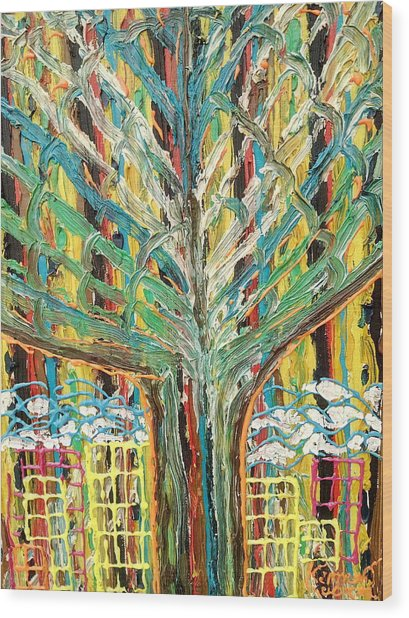 The Freetown Cotton Tree - Abstract Impression Wood Print