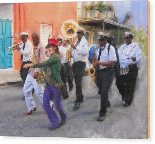 The French Quarter Shuffle Wood Print
