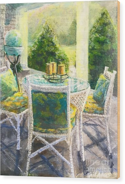 The Front Porch Wood Print