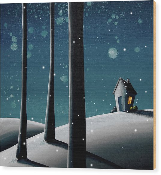 The Frost Wood Print
