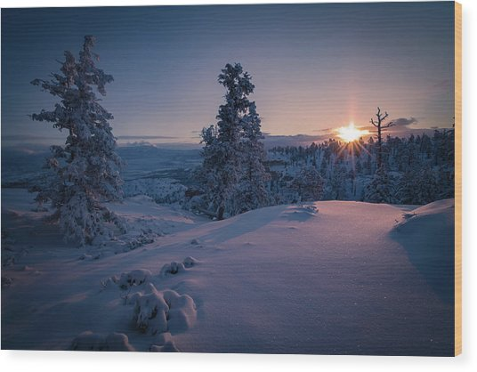 The Frozen Dance Wood Print