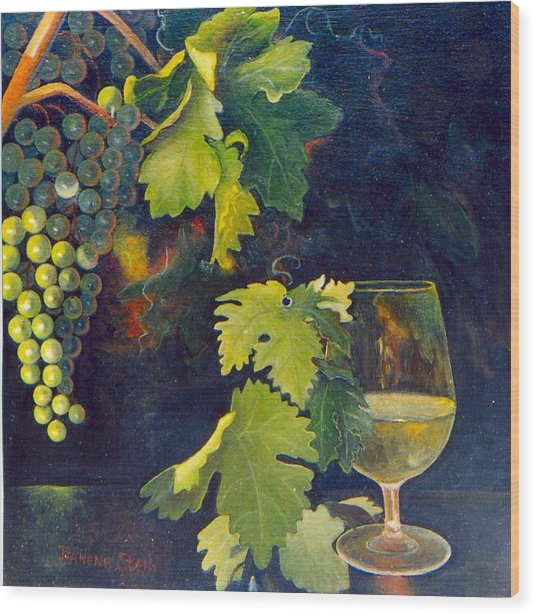 The Fruit Of The Vine Wood Print by Jeanene Stein