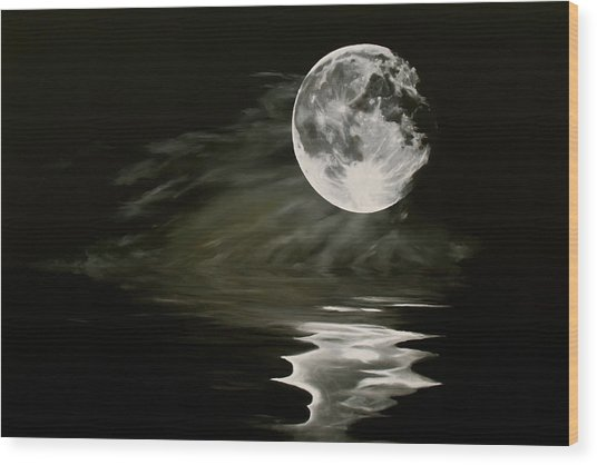 The Fullest Moon Wood Print