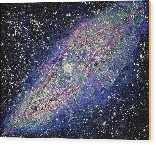 the Galaxy  Wood Print