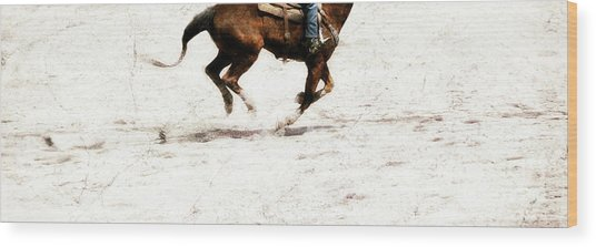 The Galloping  Wood Print by Steven Digman