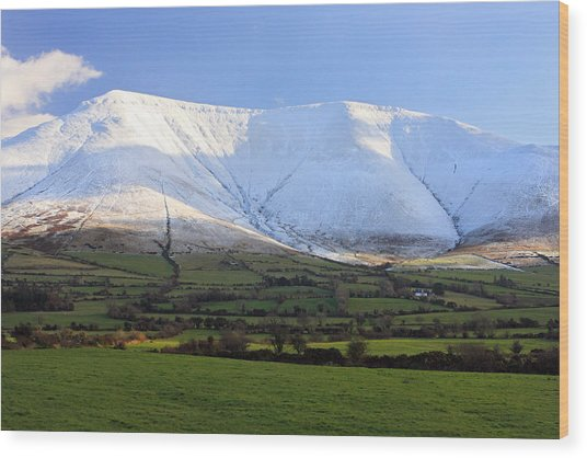 The Galtees  Ireland's Tallest Inland Mountains Wood Print by Pierre Leclerc Photography