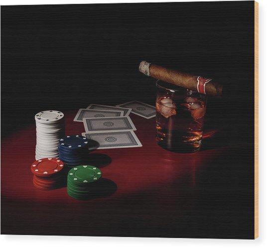The Gambler Wood Print