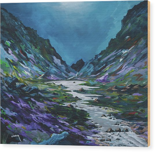 The Gap Of Dunloe Wood Print