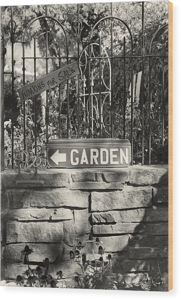 The Garden Gate Wood Print by Jim Furrer