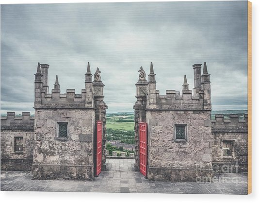 The Gate Of Evermore Wood Print