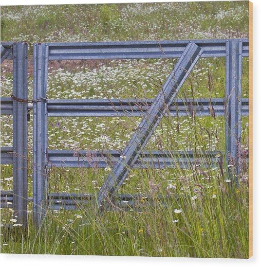 The Gate Wood Print by Rebecca Cozart