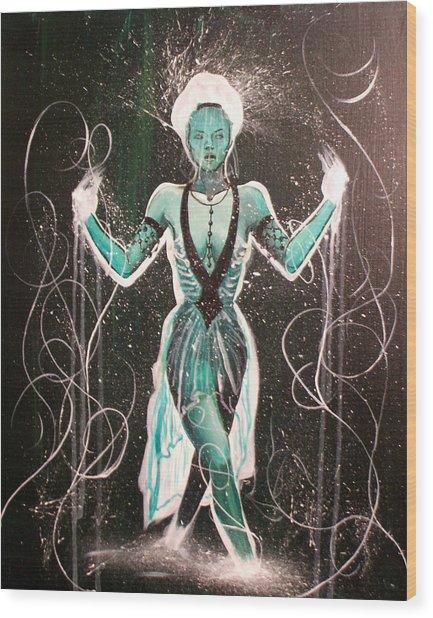 The Gatekeeper Wood Print by Ericka Bales