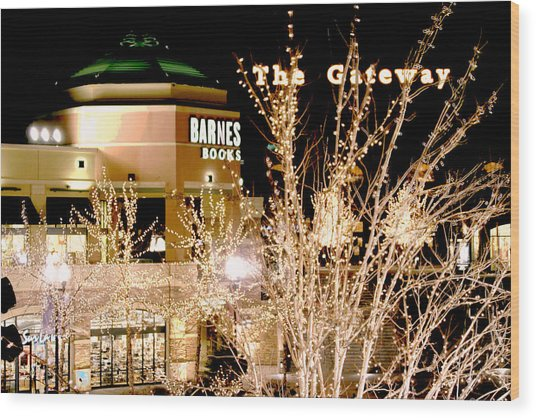 The Gateway Mall Wood Print