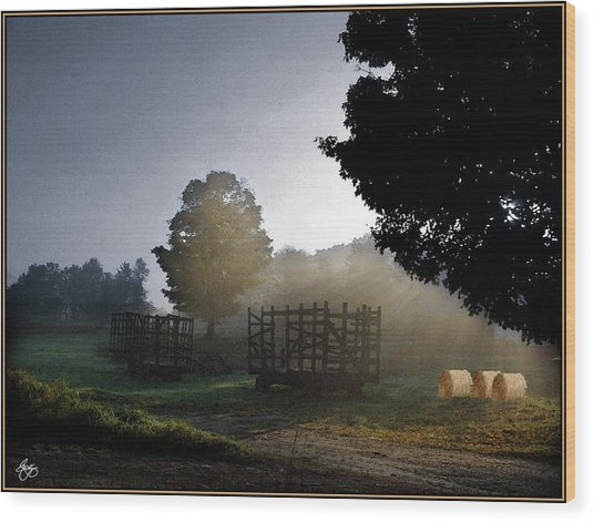 The Gathering Day Wood Print